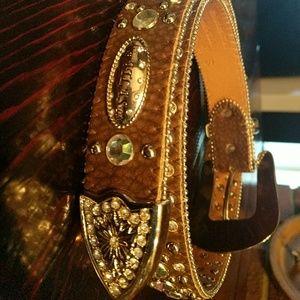 Atlas Accessories - Atlas Cowgirl Bling Belt
